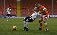 Burton Albion's Jamie Allen shields the ball from Blackpool's Jay Spearing<br /> <br /> Photographer Stephen White/CameraSport<br /> <br /> The EFL Sky Bet League One - Blackpool v Burton Albion - Saturday 24th November 2018 - Bloomfield Road - Blackpool<br /> <br /> World Copyright © 2018 CameraSport. All rights reserved. 43 Linden Ave. Countesthorpe. Leicester. England. LE8 5PG - Tel: +44 (0) 116 277 4147 - admin@camerasport.com - www.camerasport.com
