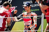 June 11th 2017, Barcelona Circuit, Montmelo, Catalunya, Spain; MotoGP Grand Prix of Catalunya, Race Day;  Dani Pedrosa of the Repsol Honda Motogp Team celebrates on the podium