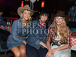Michelle McCabe, Annmarie Sheehy and Carol Timmons at the Hoedown in Lobinstown held at Meade Potato Company. Photo:Colin Bell/pressphotos.ie