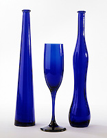 COBALT-BLUE GLASS<br /> Cobalt II Oxide<br /> CoO imparts a blue color to soda-lime glass.