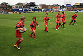 7th September 2017, Beaumont Legal Stadium, Wakefield, England; Betfred Super League, Super 8s; Wakefield Trinity versus St Helens; Youngsters practising the art of rugby before tonights game