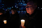 Martin Robra, a special advisor to the World Council of Churches, participates in a candlelight vigil for peace in the Korean Peninsula on December 9, 2017, in Gwanghwamun Square in Seoul, South Korea. The ecumenical Advent vigil was part of &quot;A Light of Peace&quot; campaign sponsored by the World Council of Churches and the National Council of Churches of Korea.<br /> <br /> Robra was in Seoul to participate in a WCC Consultation on Ecumenical Diakonia. <br /> <br /> The candlelight vigils were held in Seoul December 3-9, after which churches throughout the country planned to continue the vigils in small towns and villages.