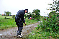 Shane Lowry plays his 2nd shot from the road on the 18th during the 3rd playoff  hole during the Final Round of the 3 Irish Open on 17th May 2009 (Photo by Eoin Clarke/GOLFFILE)