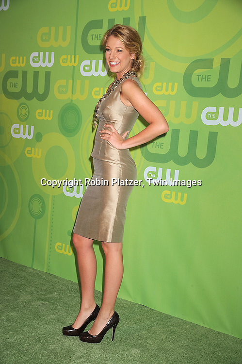 "Blake Lively  of ""Gossip Girl"" in Dolce and Gabbana dress..posing for photographers at The CW Upfront Announcement of their 2008-2009 Fall Season on May 13, 2008 at Lincoln Center.....Robin Platzer, Twin Images"