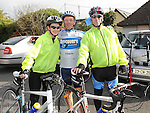 Laura O'Brien, Joe Fay and Chris Locke who took part in the Ardee Cycle club 50Km cycle. Photo: Colin Bell/pressphotos.ie