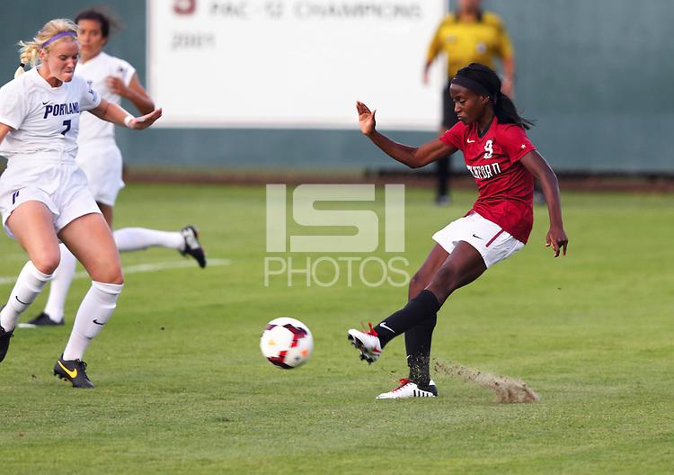 Stanford, CA; Saturday August 31, 2013: Women's Soccer, Stanford vs Portland.