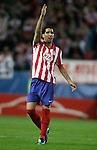 Atletico de Madrid's Raul Garcia react during UEFA Europa League match. April 08, 2010. (ALTERPHOTOS/Alvaro Hernandez)