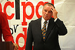 "Mayor Richard M. Daley attends a press conference for his ""Principal for a Day"" program of corporate sponsorship and volunteerism in the Chicago Public Schools at Talcott Elementary School, 1840 W. Ohio St., in Chicago, Ill. on October 17, 2008."
