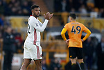 Lys Mousset of Sheffield Utd substituted during the Premier League match at Molineux, Wolverhampton. Picture date: 1st December 2019. Picture credit should read: Simon Bellis/Sportimage