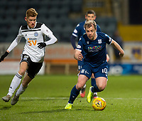 10th March 2020; Dens Park, Dundee, Scotland; Scottish Championship Football, Dundee FC versus Ayr United; Paul McGowan of Dundee goes past Connor Malley of Ayr United