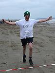 Brian Fitz was third across the line the St Mary's Drumcar 5K run on Bettystown beach. Photo:Colin Bell/pressphotos.ie