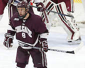 Tyson Spink (Colgate - 8) - The Harvard University Crimson defeated the visiting Colgate University Raiders 7-4 (EN) on Saturday, February 20, 2016, at Bright-Landry Hockey Center in Boston, Massachusetts,