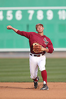 David Fletcher (24) of the Loyola Marymount Lions throws before a game against the TCU Horned Frogs at Page Stadium on March 16, 2015 in Los Angeles, California. TCU defeated Loyola, 6-2. (Larry Goren/Four Seam Images)