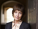 Sophia Hillan  novelist and writer  of a book about Jane Austin's neices at The Oxford Literary Festival at Christchurch College Oxford  . Credit Geraint Lewis