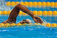 07.09.2012 Stratford, England. Enhamed Enhamed of Spain in action during the Men's 400m Freestyle S11 on day 9 of the London 2012 Paralympic Games at the Aquatic Centre.