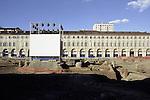 La trasformazione della Città in vista delle Olimpiadi 2006. Costruzione del parcheggio sotterraneo in piazza san Carlo.