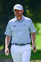 Jimmy Walker (USA) reacts to sinking his putt on 1 during round 1 of the World Golf Championships, Mexico, Club De Golf Chapultepec, Mexico City, Mexico. 3/2/2017.<br /> Picture: Golffile | Ken Murray<br /> <br /> <br /> All photo usage must carry mandatory copyright credit (&copy; Golffile | Ken Murray)