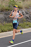 KAILUA-KONA, HI - OCTOBER 12: Sebastian Kienle of Germany competes in the run portion during the 2013 Ironman World Championship on October 12, 2013 in Kailua-Kona, Hawaii. (Photo by Donald Miralle) *** Local Caption ***
