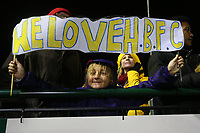 A fan of Haringey during Haringey Borough vs AFC Wimbledon, Emirates FA Cup Football at Coles Park Stadium on 9th November 2018