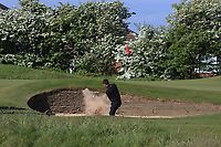 Bailey Gill (Lindrick) plays out of a bunker on the 12th during Round 3 of the Lytham Trophy, held at Royal Lytham & St. Anne's, Lytham, Lancashire, England. 05/05/19<br /> <br /> Picture: Thos Caffrey / Golffile<br /> <br /> All photos usage must carry mandatory copyright credit (© Golffile | Thos Caffrey)