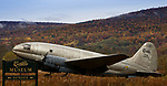 Curtiss C-46 Commando transport aircraft at the Curtiss Museum, Hammondsport, New York, USA