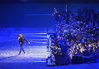 August 12, 2012..British singer George Michael performs during closing ceremony at the Olympic Stadium on the last day of 2012 Olympic Games in London, United Kingdom.