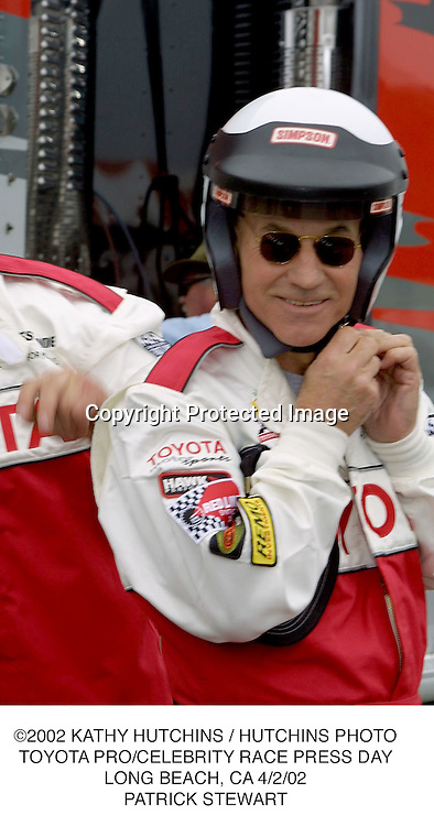 ©2002 KATHY HUTCHINS / HUTCHINS PHOTO.TOYOTA PRO/CELEBRITY RACE PRESS DAY.LONG BEACH, CA 4/2/02.PATRICK STEWART