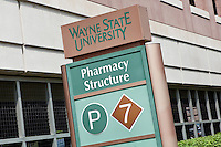 Wayne State University parking garage is seen in Detroit (Mi) Sunday June 9, 2013. Founded in 1868, WSU consists of 13 schools and colleges offering 370 programs to nearly 29,000 graduate and undergraduate students.