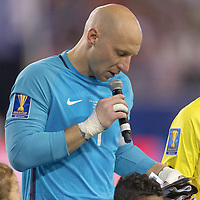 Tampa, FL - July 12, 2017: Brad Guzan The USMNT (USA) defeated Martinique (MAR) 3-2 in a 2017 Gold Cup group stage match at Raymond James Stadium.