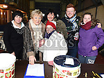 Natasha Huenchko, Isobel SanRoma, Ann Finnegan, Svetlana, Sean and Niamh Tester pictured at the annual Chernobyl swim at Clogherhead.  Photo:Colin Bell/pressphotos.ie