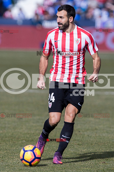 Atletic de Bilbao's Mikel Balenziaga during the match of La Liga between Leganes and Athletic Club at Butarque Stadium  in Madrid , Spain. January  14, 2017. (ALTERPHOTOS/Rodrigo Jimenez) /NORTEPHOTO.COM