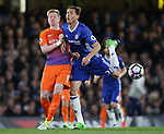 Chelsea's Nemanja Matic tussles with Manchester City's Kevin De Bruyne during the Premier League match at the Stamford Bridge Stadium, London. Picture date: April 5th, 2017. Pic credit should read: David Klein/Sportimage