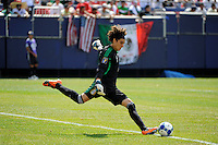 Mexico (MEX) goalkeeper Guillermo Ochoa (1). Mexico (MEX) defeated the United States (USA) 5-0 during the finals of the CONCACAF Gold Cup at Giants Stadium in East Rutherford, NJ, on July 26, 2009.