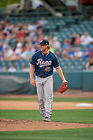 Reno Aces starting pitcher Bradin Hagens (47) during the game against the Salt Lake Bees at Smith's Ballpark on June 27, 2019 in Salt Lake City, Utah. The Aces defeated the Bees 10-6. (Stephen Smith/Four Seam Images)