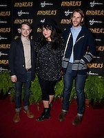 LAS VEGAS, NV - January 16 : Elijah Wood, Ana Calderon, Zach Cowie pictured at the grand opening of Andrea's at Encore at Wynn Las Vegas in Las Vegas, Nevada on January 16, 2013. Credit: Kabik/Starlitepics/MediaPunch Inc. /NortePhoto
