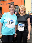 Joana Campbell and Helen O'Brien who took part in the Boyne 10K run. Photo: Colin Bell/pressphotos.ie