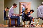 February 8, 2020; Members of the Frank Montana Sketching Club work in the Snite Museum of Art. (Photo by Matt Cashore/University of Notre Dame)