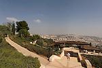 Israel, Sherover promenade in Jerusalem