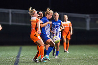 Allston, MA - Wednesday Aug. 31, 2016: Ellie Brush, Natasha Dowie during a regular season National Women's Soccer League (NWSL) match between the Boston Breakers and the Houston Dash at Jordan Field.
