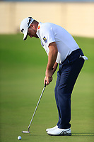 Graeme McDowell (NIR) on the 17th green during the 1st round of  the Saudi International powered by Softbank Investment Advisers, Royal Greens G&CC, King Abdullah Economic City,  Saudi Arabia. 30/01/2020<br /> Picture: Golffile | Fran Caffrey<br /> <br /> <br /> All photo usage must carry mandatory copyright credit (© Golffile | Fran Caffrey)