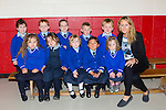 Niamh O'Reilly with her junior infants in Killorglin NS on Wednesday front row l-r: Aileen McCarthy, Katie Ellen Foley, Mia O'Shea, Alesha, Emily Rose Burke. Back row: Cian O'Neill, Ryan Murphy, Ciaran Brennan, Sean Kearney, Jackson Poff