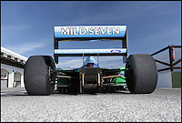 BNPS.co.uk (01202 558833)<br /> Pic: Bonhams/BNPS<br /> <br /> ***Please use full byline***<br /> <br /> One of the most historic F1 cars of all time is coming up for auction - with a glorious but poignant heritage.<br /> <br /> Its the Benetton F1 car which helped rising star Michael Schumacher win his first world championship in 1994.<br /> <br /> The German driver won four Grand Prix in this 1994 Benetton Cosworth Ford B194, including the famous Monaco race.<br /> <br /> But despite the historic car's successful history, it is linked to one of the darkest moments in motor racing history.<br /> <br /> Schumacher was driving this car immediately behind rival Ayrton Senna when the Brazilian driver was killed in a horrific 190mph crash at the Imola circuit in the 1994 San Marina GP.<br /> <br /> Schumacher climbed out of the vehicle moments after the accident and went on to win the race when it controversially restarted.<br /> <br /> The 200mph car is in perfect working order although you will need a F1 circuit to run the 3.5 litre 740bhp monster.<br /> <br /> Bonhams are selling the historic motor with a pre-sale estimate of &pound;600,000.