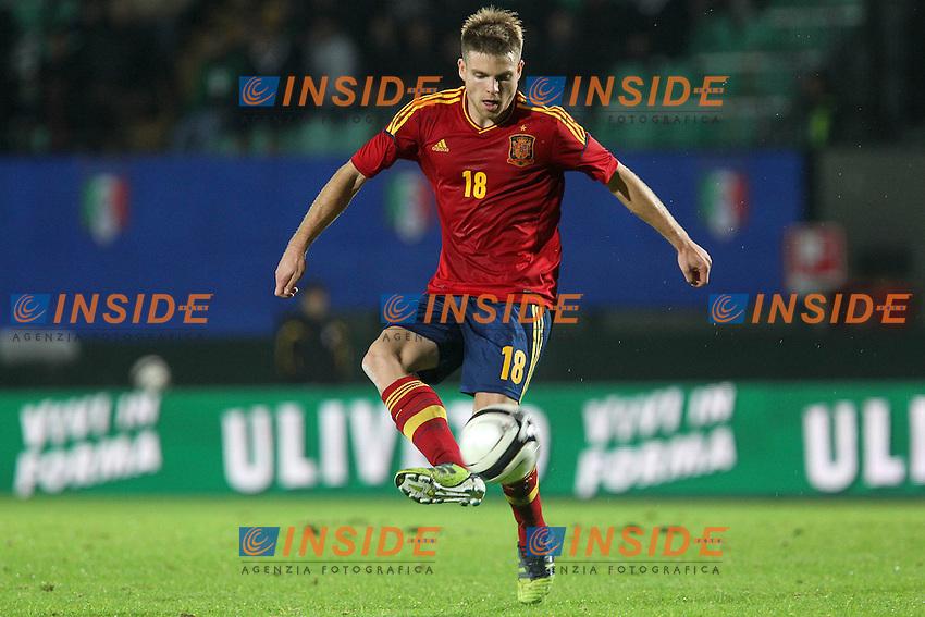 """Illarramendi.Siena 13/11/2012 Stadio """"Franchi"""".Football Calcio Nazionale U21.Italia v Spagna.Foto Insidefoto Paolo Nucci."""