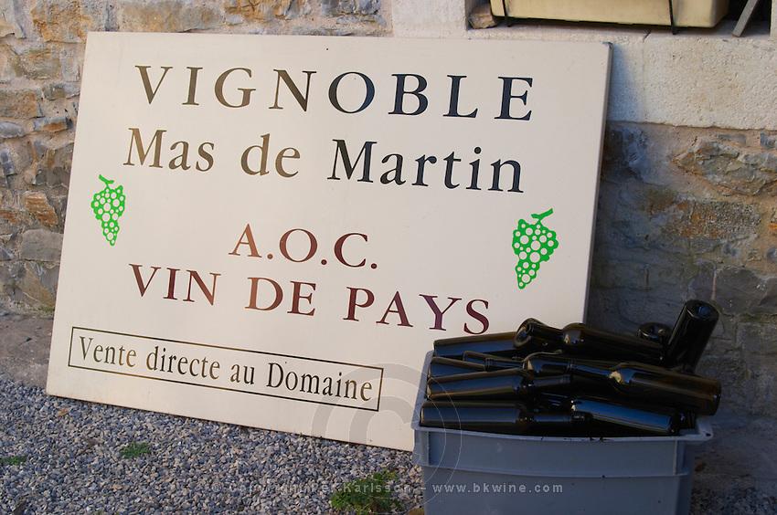 Domaine de Mas de Martin, St Bauzille de Montmel. Gres de Montpellier. Languedoc. France. Europe.