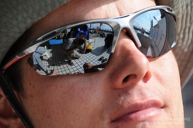 Nan Liao, Green Island - Rflection in sunglasses.