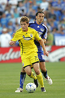 Santiago Hirsig, Robbie Rogers #19..Columbus Crew defeated Kansas City Wizards 2-0 at Community America Ballpark, Kansas  City, Kansas.