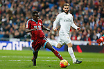 Real Madrid´s Nacho and Real Sociedad´s Bruma during La Liga match between Real Madrid and Real Sociedad at Santiago Bernabeu stadium in Madrid, Spain. December 30, 2015. (ALTERPHOTOS/Victor Blanco)