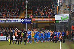 The teams enter the pitch - Bradford City vs. Sunderland - FA Cup Fifth Round - Valley Parade - Bradford - 15/02/2015 Pic Philip Oldham/Sportimage
