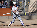 Sydney Darby has an at-bat for Western Nevada College during a college softball game against Salt Lake Community College on Friday, Feb. 15, 2013, in Carson City, Nev. SLCC won the opener 4-2..Photo by Cathleen Allison