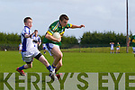 Kyle Fitzgibbon of Tralee CBS breaks from Conor Dolan of St Flannan's of in the Frewen Cup Final  held last Wednesday in Croagh, Co. Limerick. ..